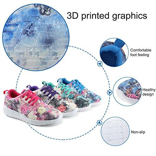 Hawkwell Womens 3D Printed Graphics Fashion Sneaker Mint/Green 6N0xsbUjjF