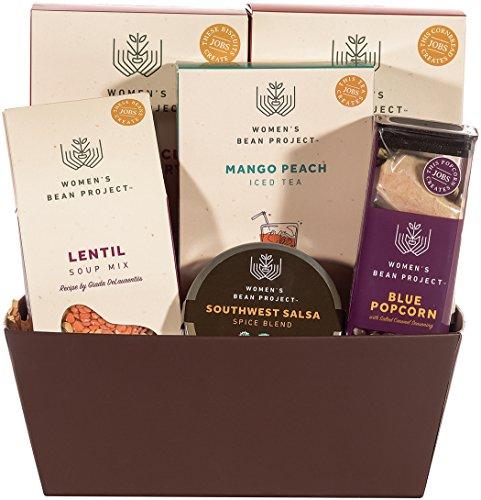 Women's Bean Project Weekender Gourmet Food Gift Basket, 6 Items
