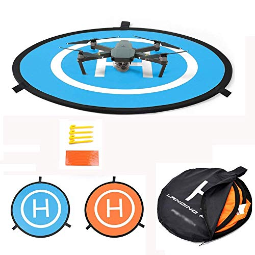 12' Rc Helicopter - Yifant Drone Landing Pad Universal Waterproof D 75cm/30inches Portable Foldable Launch Pad For DJI Mavic Pro Phantom 2/3/4/ Pro Inspire 2/1 3DR Solo Parrot Quadcopter Helicopter Drone Accessories