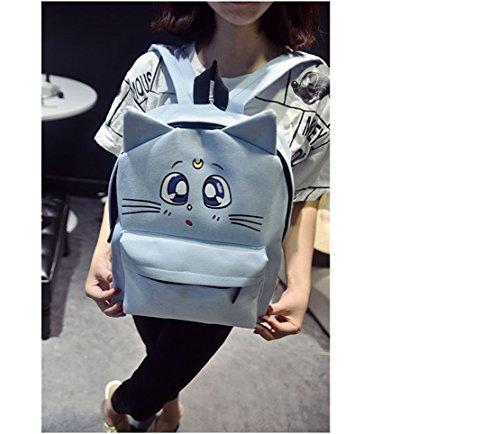 de47a203c5639 Coolchange® Anime Sailor Moon Luna Print Canvas Backpack Satchel (Light  Blue) - Buy Online in Oman.