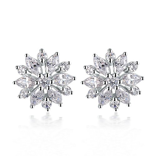 Angelady Elegant Flower Charm Stud Earri - Dome Set Earrings Shopping Results