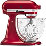 KitchenAid KSM155GBCA 5-Qt. Artisan Design Series with Glass Bowl - Candy Apple Red
