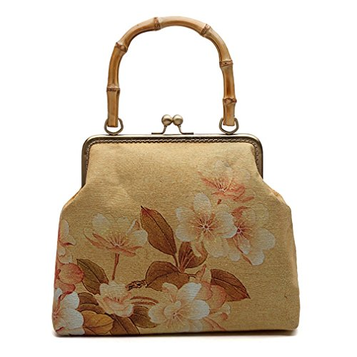 Floral Women NEW Handbags amp;OS Tote Small Bag Evening khaki Vintage Party ZJ Clutches Ladies Bags FSYww