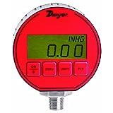 """Dwyer DPG Series Digital Pressure Gauge, +/-0.5% Full Scale Accuracy, Range 30"""" Hg-0-100 psig"""