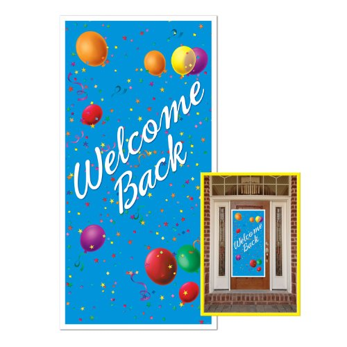 Welcome Back Door Cover Party Accessory (1 count) (Welcome Back Banner)