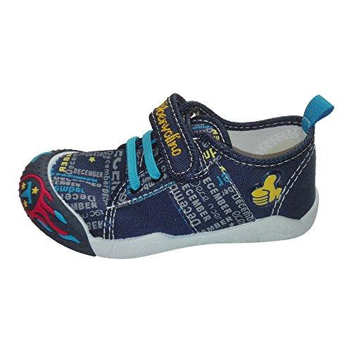 Benvolino - Zapatillas de lino para niña azul marino