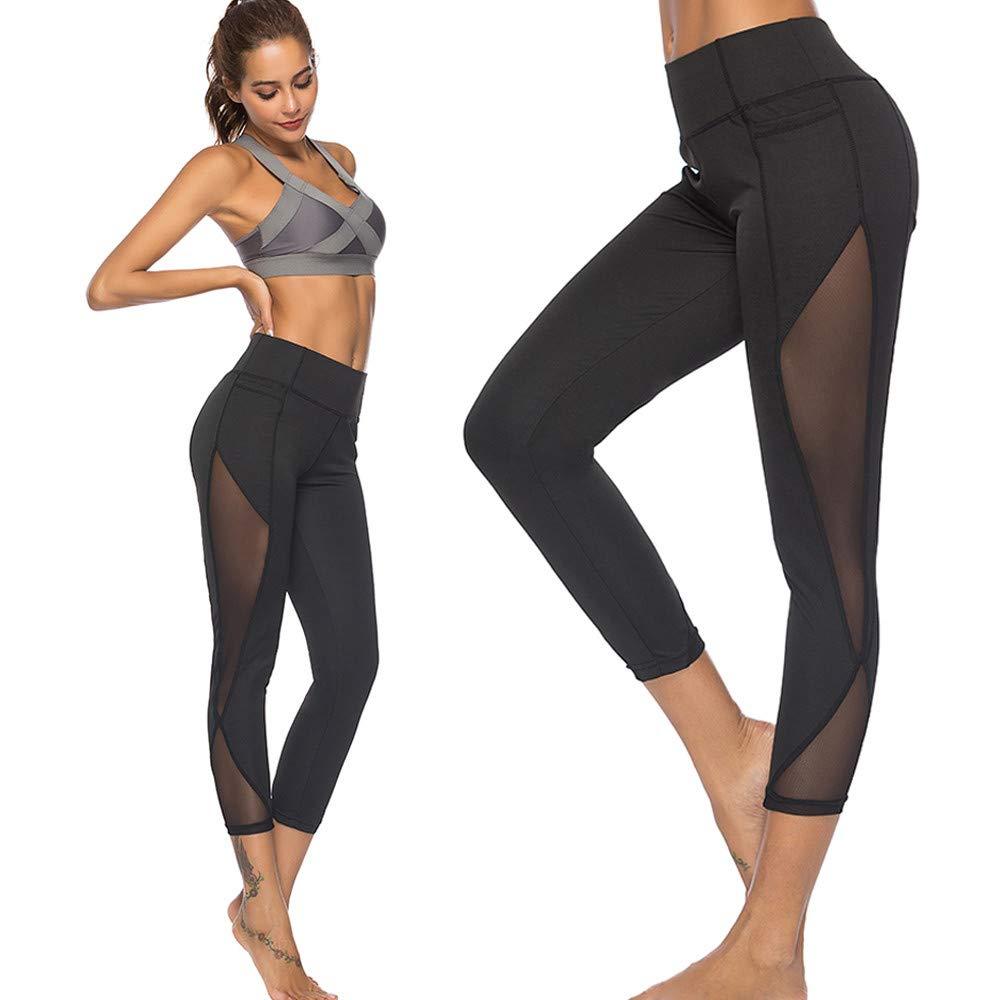 Leggings Yoga Deportivas Mujer SUNNSEAN Mallas Polainas Atl/ético Gimnasio Entrenamiento de Fitness Yoga Leggings Leggins para Damas Verano Pantalones Deportivos Mujer