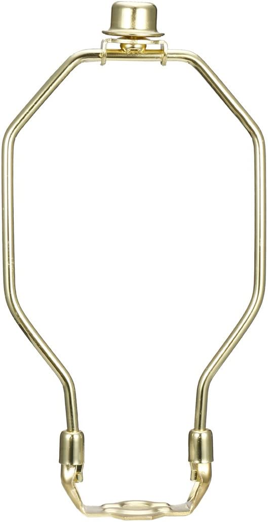 uxcell Lamp Harp Finial Holder Set 8 inch Polished Brass 2Pcs for Table and Floor Lamps