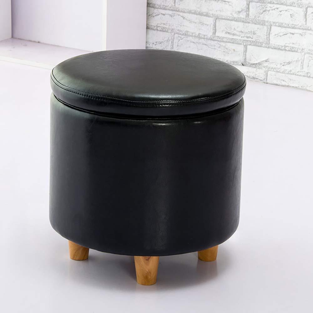 Black Multi-Function Storage Box - Fashion shoes Bench, Storage Stool shoes-White