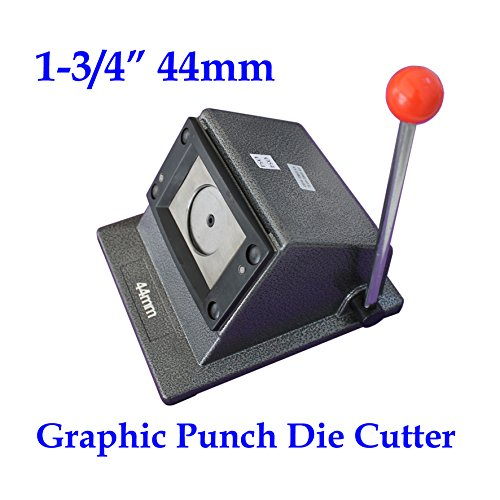 Round 1-1/4'' 44mm Multi Sheets Stack Paper Graphic Punch Die Cutter Button Maker by Button Maker