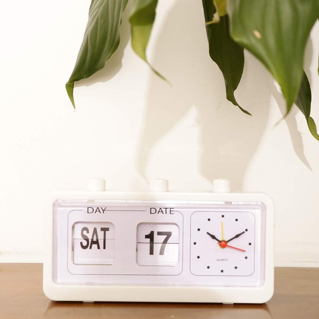B Blesiya Horloge Nouveaut/é Flip Clock Down Montre De Table Bureau Maison Cadeau Noir
