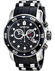 Invicta Mens 17879 Pro Diver Analog Display Swiss Quartz Black Watch
