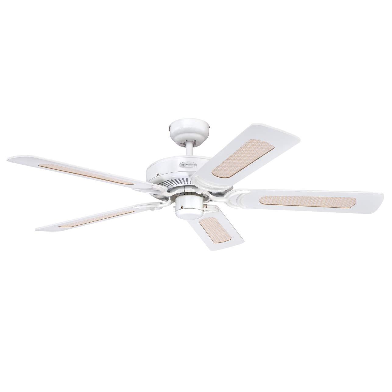 LED Decken Ventilator Wärme Lüfter FERNBEDIENUNG Wind-Maschine 132 cm Wohnzimmer