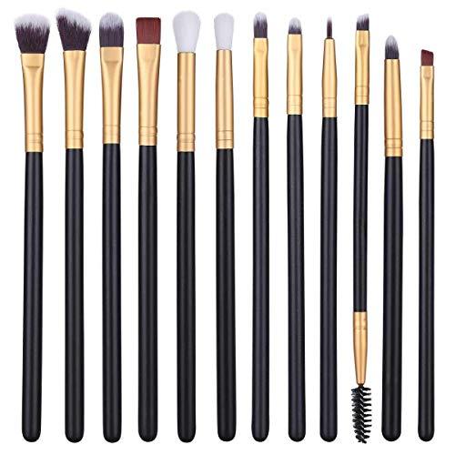 12Pcs Eye Makeup Brushes, Professional Eyeshadow Brush Set for Shading or...
