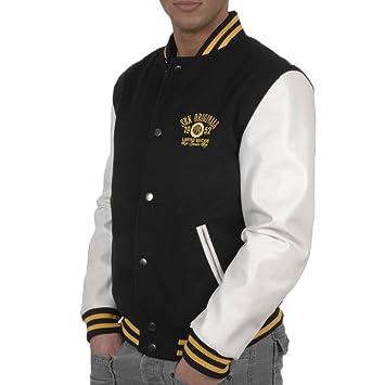 7e1536f8af072 SRK-Blouson teddy garçon 10/16 ans ECORTY1016- Noir/blanc-10 ans ...