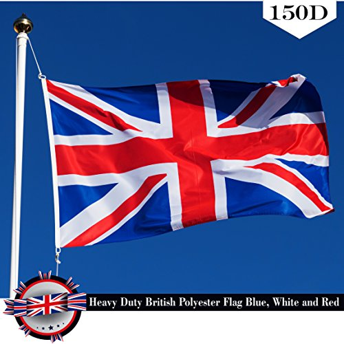 ack (UK Great Britain) Country Flag 3x5 FT Printed Brass Grommets 150D Polyester Indoor/Outdoor - Much Thicker and More Durable than 100D and 75D Polyester (Union Flag)