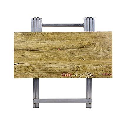 SSRS Table à Manger Pliante Portable (Color : Silver, Size