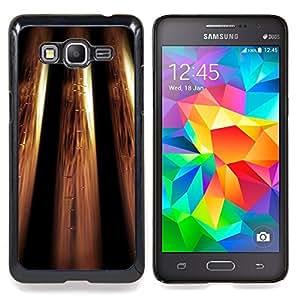 """Qstar Arte & diseño plástico duro Fundas Cover Cubre Hard Case Cover para Samsung Galaxy Grand Prime G530H / DS (Metálico Bling Diseño Wallpaper de Oro"""")"""