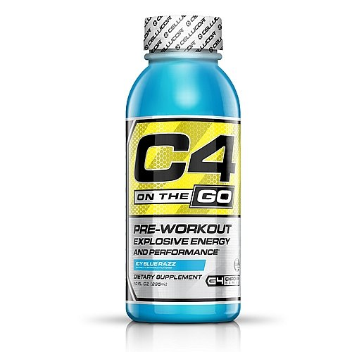 Cellucor C4 On The Go Energy Drink, Icy Blue Razz, 12 Count