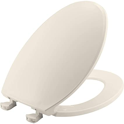 Miraculous Bemis 1800Ec 346 Toilet Seat With Easy Clean Change Hinges Elongated Biscuit Linen Ncnpc Chair Design For Home Ncnpcorg