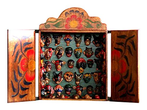 NOVICA 84103'' Mask Collection Wood Retablo
