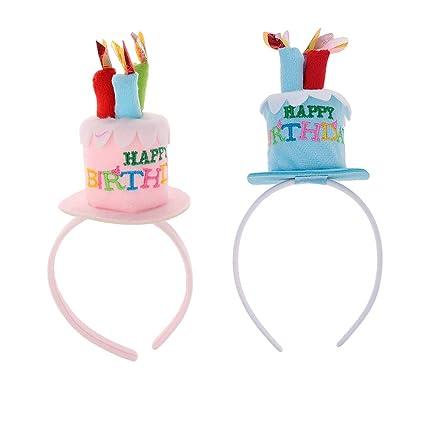 IPOTCH - Diadema infantil con forma de tarta para decoración ...