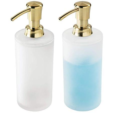 mDesign Juego de 2 dispensadores de jabón recargables ...