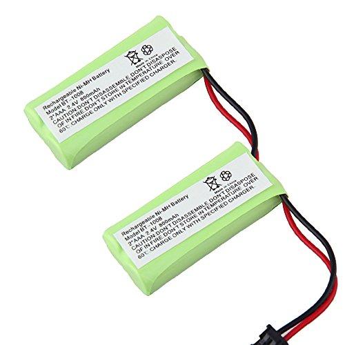Cordless Home Phone Battery for Uniden Uniden BT1008 BT-1008 BT1016 BT-1016 BT1021 BT-1021 WITH43-269 WX12077 Sanyo CAS-D6325 CASD6325 Lenmar CBBT1008 CB-BT1008 (Pack of 2)