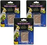(3 Pack) Ecotrition Bird Beak Conditioner Block, Small