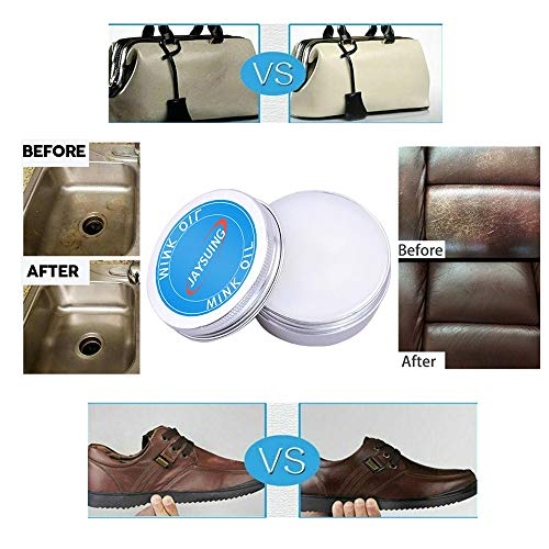 Leather Cleaner,DIY Repair Refurbishing Repair Cream,Leather Conditioner and Restorer for Fading of Leather Furniture, Couches Car Seats Shoes Purses,Jackets (50ml)