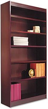 Amazon Com Alera Bcs67236 Square Corner Wood Veneer Bookcase Furniture Decor