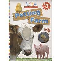 (进口原版) 儿童绘本纸板触摸书 Petting Farm (Little Scholastic; Book & DVD)