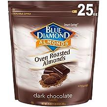 Blue Diamond Oven Roasted Cocoa Almonds, Dark Chocolate Flavor, 25 Ounce