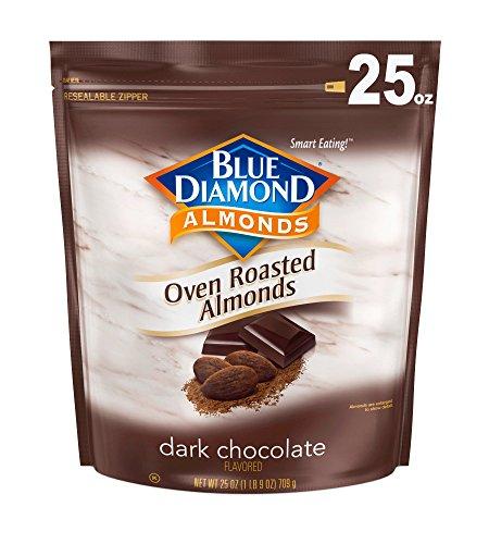 Blue Diamond Oven Roasted Cocoa Almonds, Dark Chocolate Flavor, 25 Ounce Dark Chocolate Almonds