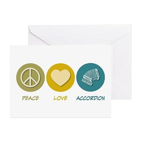 Amazon cafepress peace love accordion greeting card note cafepress peace love accordion greeting card note card birthday card blank m4hsunfo