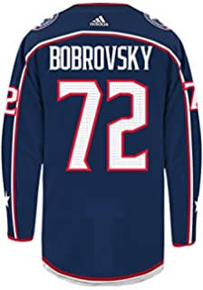 sergei bobrovsky columbus blue jackets adidas authentic home nhl hockey jersey