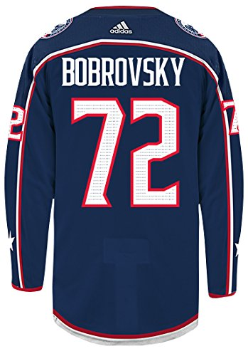 online store e78f1 d96ab adidas Sergei Bobrovsky Columbus Blue Jackets Authentic Home NHL Hockey  Jersey