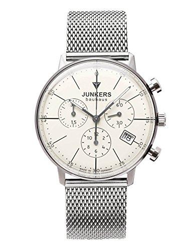 Junkers Bauhaus Lady Quartz Watch, Beige, 35 mm, Chronograph, 6089M-5