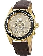 Burgmeister Herren Datum klassisch Automatik Uhr mit Leder Armband BM302a-295A