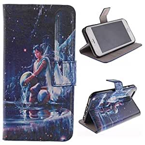 QHY The Twelve Constellation Sagittarius Design PU Full Body Case with Stand with Card Slot for iPhone 6 Plus