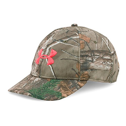 Ladies Camo Cap - Under Armour Women's Camo Cap, Realtree Ap-Xtra/Pink Chroma, One Size