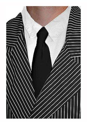 Fun Costumes Black Mobster Gangster Formal Costume Tie - ST