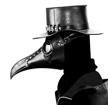 Steampunk Peste Pájaro Máscara De Boca, La Peste Médico Pájaro Máscara Larga Nariz Juego De