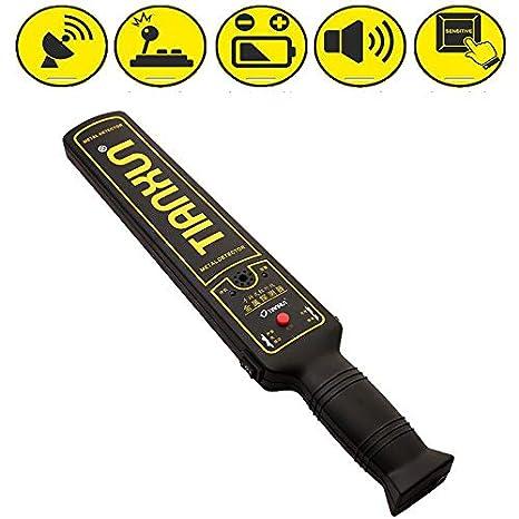 LAJJXTK Detector de Metales Portátil buscador Alarma de Seguridad ...