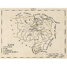 1825 National Atlas   V.1:1-5: III: Schweiz. Kant: 3. Luzern. 4. Uri. 5. Schwyz. 6. Unterwalden. 8. Zug   Antique Vintage Map Reprint