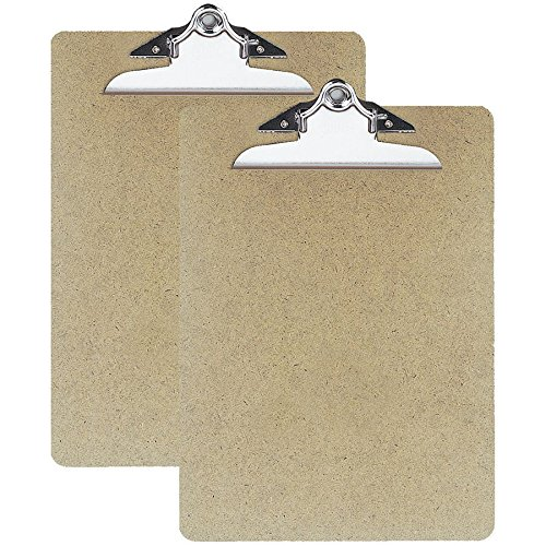 OIC(R) Hardboard Clipboards, Letter Size, 9