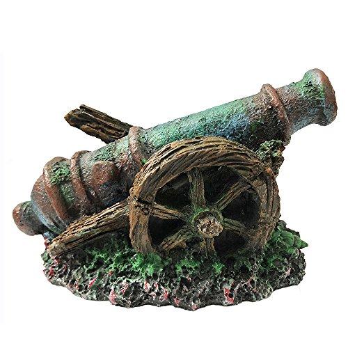 SLOME Aquarium Cannon Ornaments Pirate Cannon Decorations - Resin Material Mini Cannon Ornaments, Safe And Non-Toxic Fish Tank Decor.