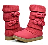 Dream Pairs Little Kid Klove Red Faux Fur Lined Mid Calf Winter Snow Boots Size 12 M Us Little Kid | amazon.com