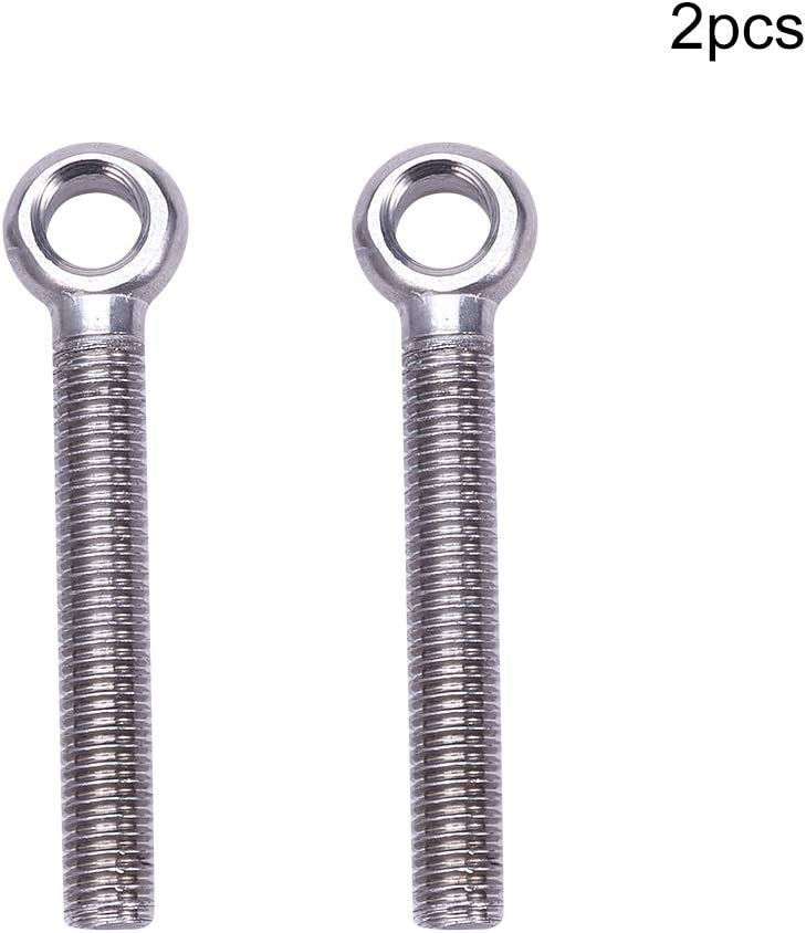 304 Stainless Steel Lifting Eye Bolt Eyebolt /& Washer Nut M4 x 40mm