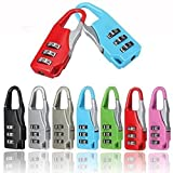 Rely2016 Suitcase Luggage Resettable Code Lock Padlock Security Lock 3 Digit Combinations for Travel Use, Random Color (4)